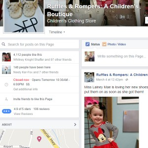 Ruffles and Rompers FB Page